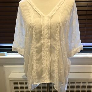 Philosophy ivory embroidered tunic med